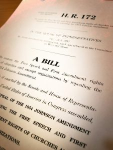 Johnson Amendment bill