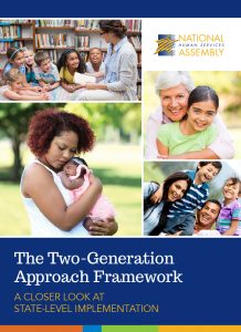 Two Generation Approach Publication Cover with images of kids and families