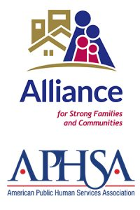 Alliance for Strong Families & Communities and APHSA logos