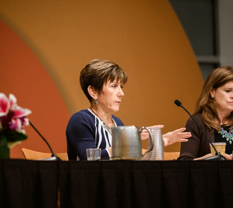 Panelists Bridget Gavaghan, Susan Dreyfus, and Tracy Wareing Evans from breakout session