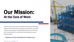 Screenshot of APHSA mission statement on website