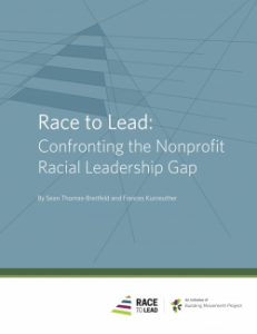 Race to Lead: Confronting the Nonprofit Racial Leadership Gap report cover