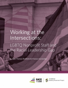 Working at the Intersections: LGBTQ Nonprofit Staff and the Racial Leadership Gap report cover