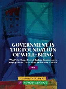 Government is the Foundation of Well-Being report cover from Illinois Partners