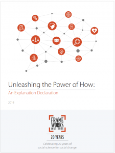 FrameWorks Institute Report Cover, Unleashing the Power of How