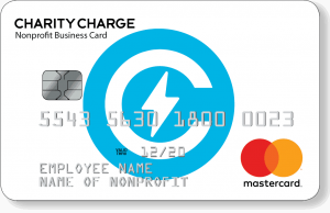 Charity Charge Mock-up of Business Credit Card Front