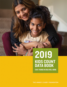 The Annie E. Casey Foundation 2019 Kids Count Data Book Report Cover
